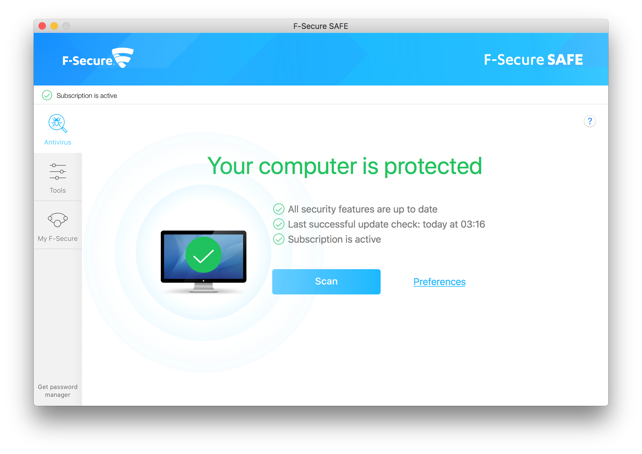 F-Secure SAFE for Mac