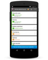 McAfee Mobile Security 2016