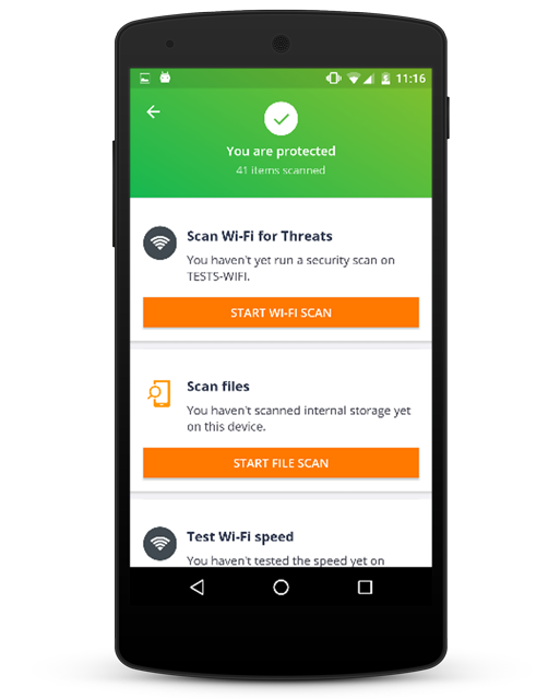avast mobile security forgot password