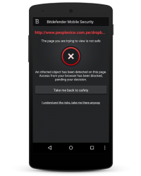 Bitdefender Mobile Security and Antivirus 2015 - Web Security