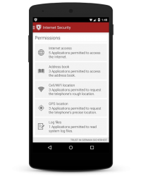 G Data Internet Security 2015 - App Permissions