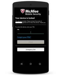 McAfee Mobile Security 2015 - Device Lock