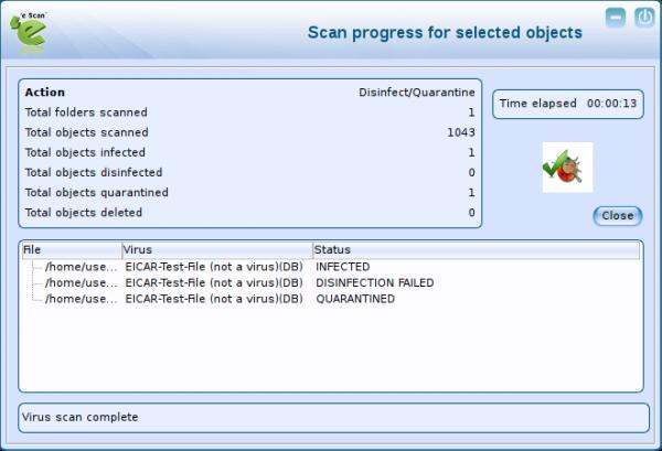 eScan Anti-Virus for Linux