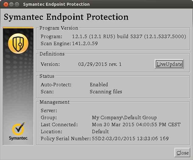 Symantec Endpoint Protection for Linux