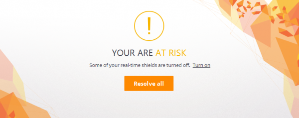 Avast Free Antivirus 11.1 - Status alert