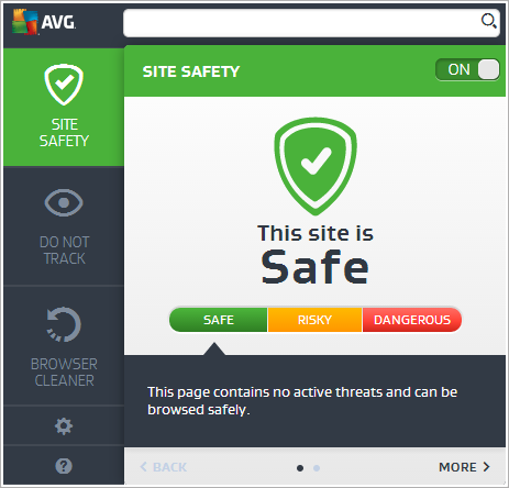 AVG Internet Security 2016 - Toolbar