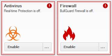 BullGuard Internet Security 15.1 - Status alert