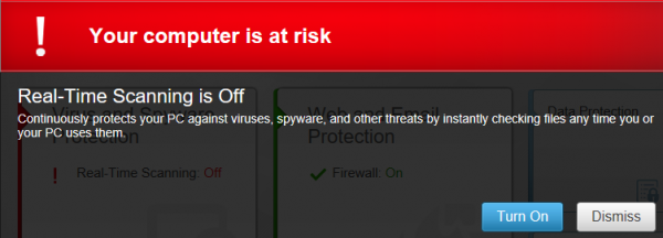 McAfee Internet Security 14.0 - Status alert