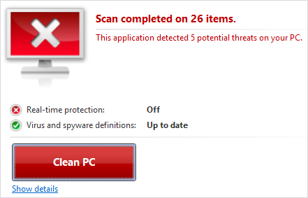 Microsoft Windows Defender 4.9 for Windows 10 - On-demand scan alert