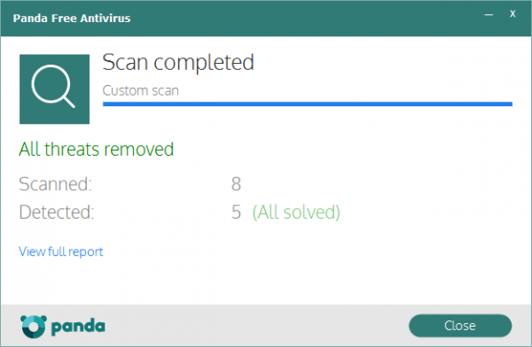 Panda Free Antivirus 16.0 - On-demand scan