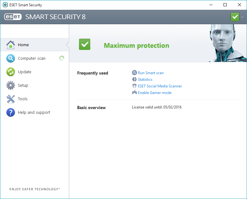 eset smart security username and password 2016