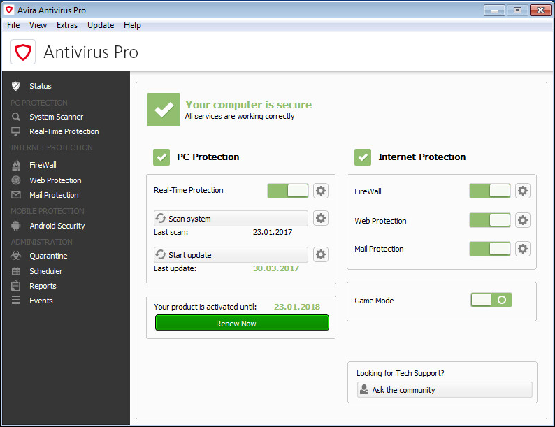 avira free antivirus license key 2018