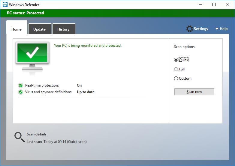 Microsoft Windows Defender