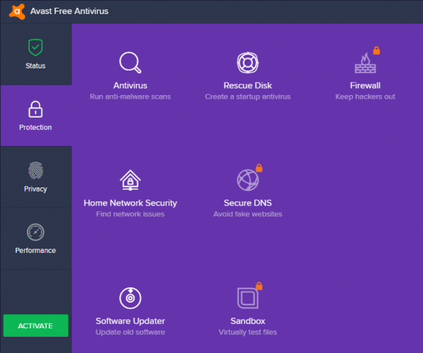 avast free antivirus server 2008 r2