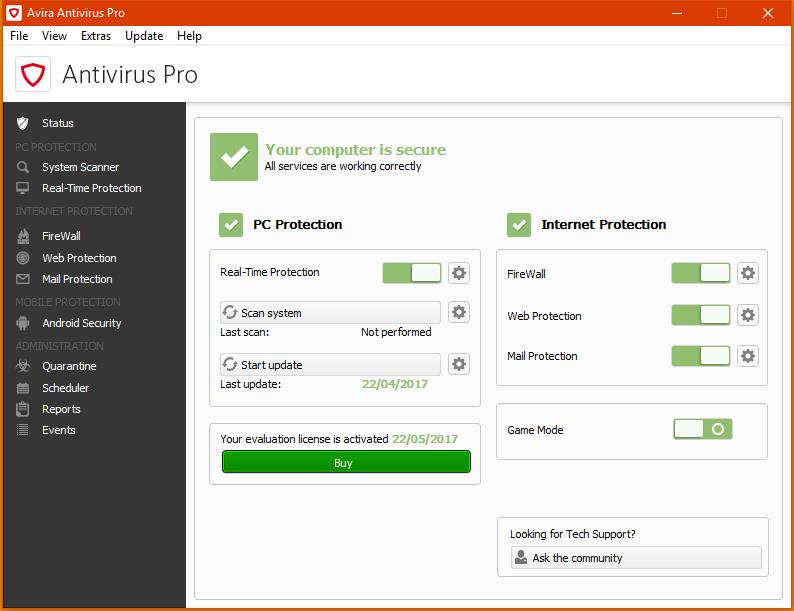 antivirus windows 10 gratis 2017