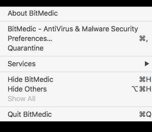 bitmedic-menu-bar