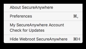 webroot-menu-bar