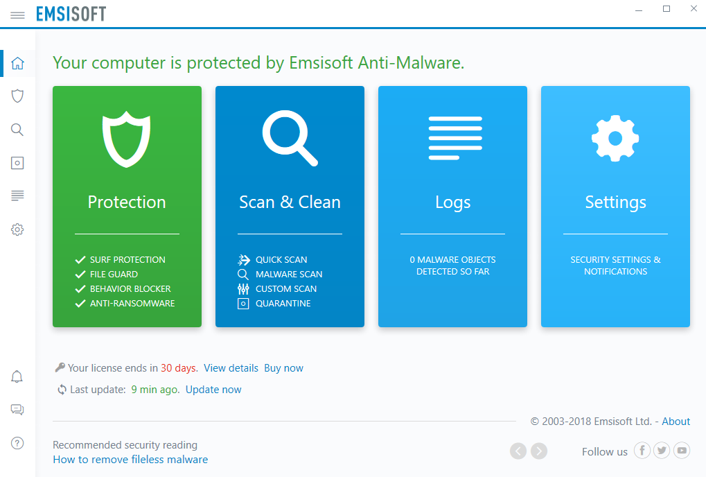 Emsisoft Anti-Malware with Enterprise Console
