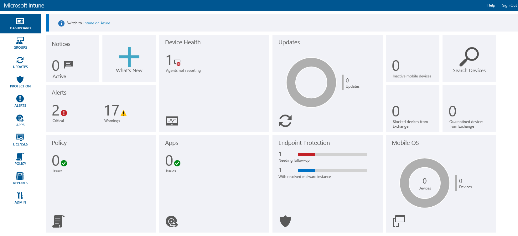 Microsoft Windows Defender Antivirus for Business with Intune