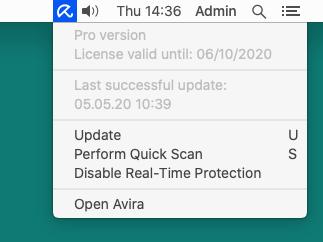 Avira Antivirus Pro for Mac