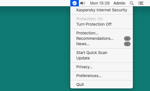 Kaspersky Internet Security for Mac