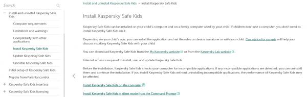 Kaspersky Safe Kids for Windows