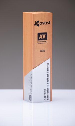 Avast Approved Enterprise & Business Security 2020 Trophy