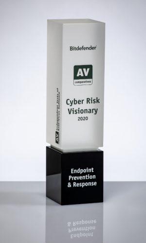 Bitdefender Endpoint Prevention & Response Cyber Risk Visionary 2020 Trophy