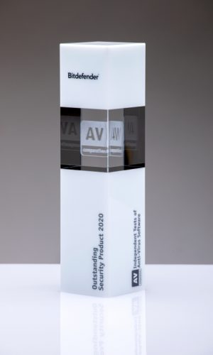 Bitdefender Outstanding Security Product 2020 Trophy