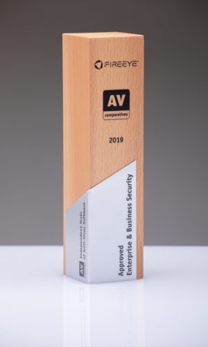 Fireeye Approved Enterprise & Business Security 2020 Trophy