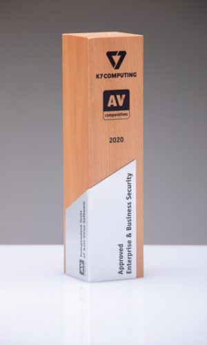 K7 Approved Enterprise & Business Security 2020 Trophy