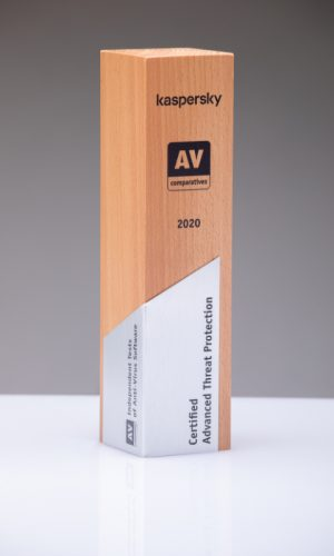 Kaspersky Certified Adwanced Threat Protection 2020 Trophy