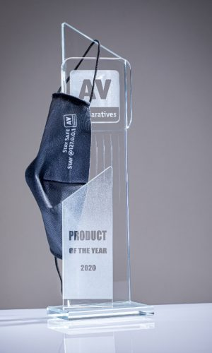 Kaspersky mask 1 Product of the year 2020 Trophy