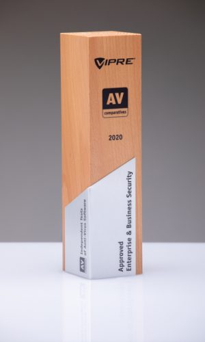 Vipre Approved Enterprise & Business Security 2020 Trophy