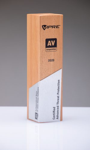 Vipre Certified Advanced Threat Protection 2020 Trophy