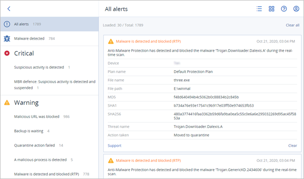 Acronis Cyber Protect Cloud with Advanced Security pack