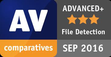 File Detection Test September 2016 - ADVANCED+