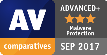 Malware Protection Test September 2017 - ADVANCED+