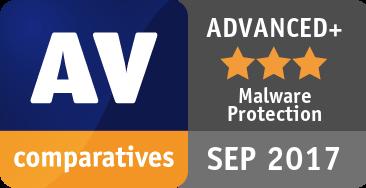 Malware Protection Test September 2017 - ADVANCED+