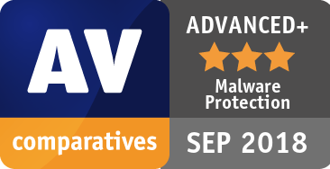 Malware Protection Test September 2018 - ADVANCED+