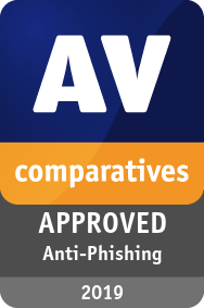 Anti-Phishing Certification Avira 2019 - APPROVED
