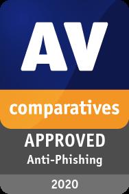 Anti-Phishing Certification AVG 2020 - APPROVED