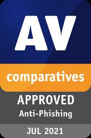 Anti-Phishing Certification AVG 2021 - APPROVED